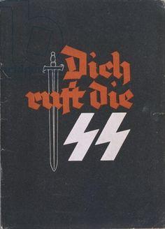 German recruitment poster for the SS, printed by Verlag Hermann Hillger KG, Leipzig 1942