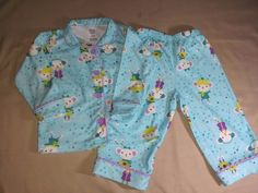 Carter's Flannel PJs Size 18 Mos Excellent #Carters #TwoPiece
