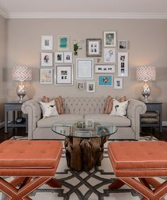 Cool Calm + Curated - transitional - family room - sacramento - by Kerrie L. Kelly