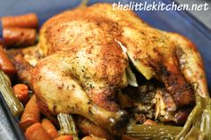 Whole chicken in the crockpot....***i skinned the chicken (yuck!) and used the rub in this recipe and stuffed the chicken with chopped garlic, 1/4 onion and some chopped celery...delicious! <3 gigi