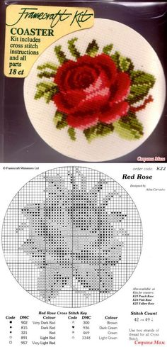 Pinkip Red rose - Biskornyu y otros кривульки - el País de las Mamás // Елена Елена Капорская Tiny Cross Stitch, Cross Stitch Flowers, Funny Cross Stitch Patterns, Cross Stitch Designs, Cross Stitching, Cross Stitch Embroidery, Hand Embroidery Patterns Flowers, Cross Stitch Pictures, Red Roses