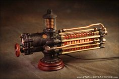 the Photonic Siphuncle Primary: a hand-made steampunk styled lamp Arte Steampunk, Steampunk Design, Steampunk Lamp, Steampunk Fashion, Gothic Steampunk, Steampunk Necklace, Steampunk Clothing, Gothic Fashion, Steampunk Motorcycle