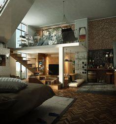 El concepto loft viene de Nueva York. En los años 50 se empezaron a poner de moda estos espacios por su gran amplitud.