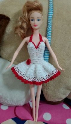 Hello    Handmade  Crochet  Barbie dress  Color white        DIY     we accept payment by paypal only.please finished payment wihtin 3 days after auction has end.    shipping by thailandpost small packet    Delivery time 7-21 days.    Free shipping cost.    If goods not same as photo we refund.    If you have any question please contact us by ebay message only.    Thank you very much for your time. | eBay!
