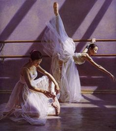 Guan Zeju (Chinese: 1942) is a popular artist from China who is known for his ballet paintings. He was born in 1942 in Guangdong province of China. Guan completed art studies from Guangzhou Arts Academy. | Artist Bio: Guan settled in America and started focusing on ballet paintings.