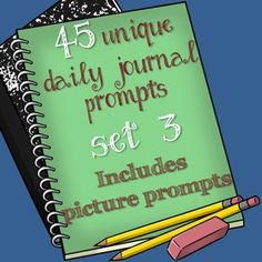 ..This PDF File contains 45 writing prompts for your students to respond to during the first 5-10 minutes of class.   Students work on building their enjoyment of writing by responding to varied and interesting writing prompts. This set of 45 prompts includes photographs, persuasion, compare and contrast, silly, and serious questions for students to consider.