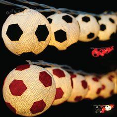 Aladin Soccer Football Cotton Balls String Fairy Kid s Room Night Lights Deco AU