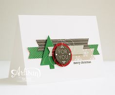 Stampin' Cards and Memories: Makkelijke Maandag #12, Letterpress Winter stampset, Trim the Tree DSP, Snowflake Card Thinlits