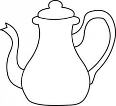 Teapot coloring page tea cups Pinterest Colouring and