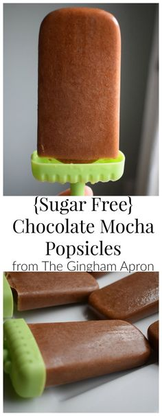 Sugar Free and Healthy Chocolate Mocha Popsicles are packed full of nutrition and great flavor! You'll love them!