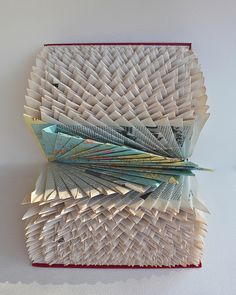 Folded World Atlas (Altered Books 2010) by Robfos