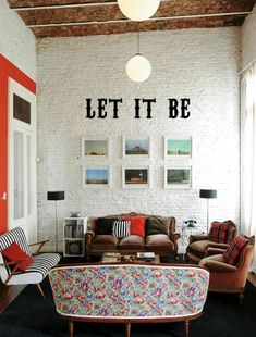 Vinyl Wall Decal LET IT BE by willworkforcupcakes on Etsy, $19.95