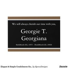 Shop Elegant & Simple Condolences Guestbook created by AponxDesigns. Birth And Death, Condolences, Guest Books, Funeral, Letter Board, Messages, Memories, Elegant, Simple