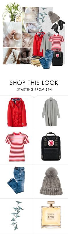 """""""My go to Outfit for rainy days in Library"""" by iwa-j-marija ❤ liked on Polyvore featuring Joules, Halogen, RE/DONE, Fjällräven, Eugenia Kim, Pier 1 Imports, Chanel and LSA International"""