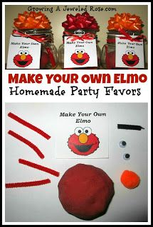Make Your Own Elmo- Homemade Party Favors ~ Growing A Jeweled Rose