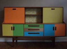 """James"" Retro G Plan upcycled sideboard"