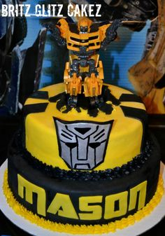 Transformer cake I made for my nephew!