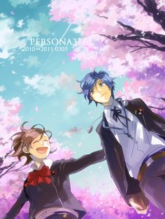 Persona 3 Minato and Minako Haru Okumura, Shin Megami Tensei Persona, Akira Kurusu, Deadman Wonderland, Persona 4, Shinigami, Memento Mori, Disney Cartoons, Great Artists