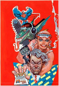 Original cover painting by Simon Bisley from Deadline #8, published by Deadline Publications, 1990.