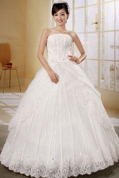 Luxury White Organza Wedding Dresses - Order Link: http://www.theweddingdresses.com/luxury-white-organza-wedding-dresses-twdn0402.html - Embellishments: Applique , Beading , Crystal; Length: Floor Length; Fabric: Organza; Waist: Natural - Price: 161.22USD