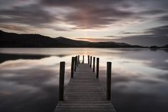 Last ray of light - at Ashness Jetty, Derwentwater, Lake District