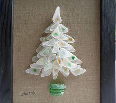 Glass Christmas tree Christmas Decoration White Christmas
