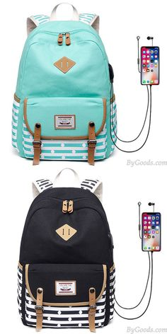 C /& S Backpack Embroidered Flower Small Shoulder Bag Women Outdoor Shopping Light Retro Oxford Cloth Small Schoolbag