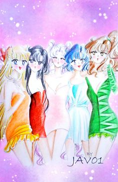 Sailor Moon - inner senshis by zelldinchit.deviantart.com on @deviantART
