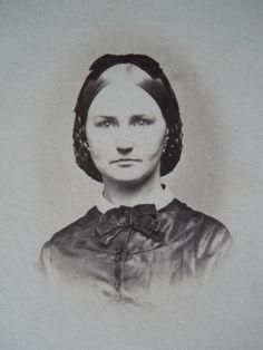 Portrait Beautiful Lady Hair Snood Antique Civil War Era CDV Photo Syracuse NY | eBay