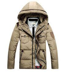 0a7fdfe16a 2014 men s White duck down Thick jacket winter outdoor parka coat patchwork winter  jacket for menfor men