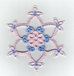 Tat-a-Renda: Daisy Picot Snowflake pattern and instructions