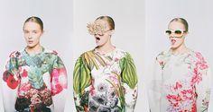 Masha Reva x Syndicate Botanical Layers - When two Eastern European couture lines collaborate, genius pieces are bound to be created; the Masha Reva x Syndicate Botanical Layers collection . Floral Fashion, Fashion Prints, Fashion Art, Editorial Fashion, Fashion Ideas, Botanical Fashion, Ladies Fashion, Tropical Fashion, Fashion Images