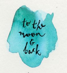 To the moon and back in watercolor. by Annemarie Gorissen