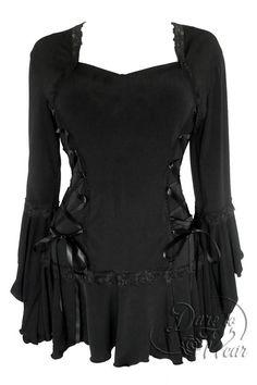Dare To Wear Victorian Gothic Boho Women& Plus Size Bolero Corset Top Black S Gothic Fashion, Look Fashion, Womens Fashion, High Fashion, Steampunk Fashion, Fall Fashion, Vintage Fashion, Fashion Outfits, Bolero Top