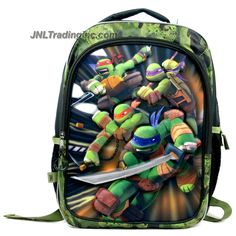 Accessory Innovations Teenage Mutant Ninja Turtles TMNT Backpack with 3-D Foam Image of Leonardo, Michelangelo, Raphael & Donatello