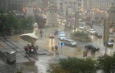Deu mesmo para se abrigar da chuva!