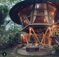Studio WNA is an architecture consultant in Bali Indonesia. This consultant is not only focus in architecture design, but also in product design and interior Jungle House, Forest House, Bamboo Architecture, Architecture Design, Innovative Architecture, Bamboo House Design, Bamboo Building, Tiny Houses For Rent, Bamboo Structure