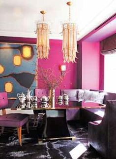 Remember when I posted this gray & purple room… | Design Indulgences