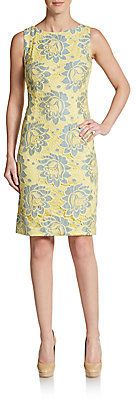 Floral Eyelet Lace Sheath Dress