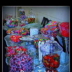 Wedding candy table!! Love it