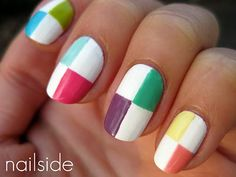 Colorful Checker Mani... I'm definitely going to have to try it out this summer! :-)