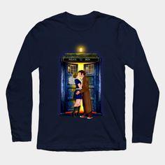 The last kiss from the Doctor  Long Sleeve T-Shirt #teepublic #tee #tshirt #longsleeve #clothing #doctorwho #christmas #christmasgift #davidtennant #10thdoctor #tardis #vangogh #starrynight #mashup #whovian #funny #cool #nerdy #geeky #timevortex #timelord #badwolf #nerds #fandom #timetravel #british #gallifrey #gallifrean #space