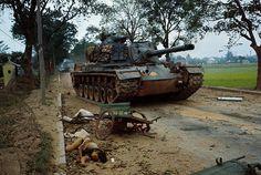 01 Feb Hue, South Vietnam --- View of Dead Vietnamese by Tank --- Image by © Bettmann& Vietnam History, Vietnam War Photos, Brown Water Navy, Good Morning Vietnam, Patton Tank, M48, North Vietnam, Saigon Vietnam, War Photography