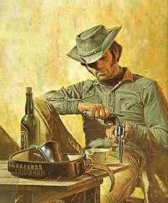Wild West - A minute of peace . Western Comics, Cowboy Art, Western Cowboy, Westerns, Old West, Cowboy Pictures, West Art, Bd Comics, Le Far West