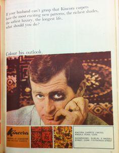 """""""Si tu marido no aprueba las alfombras Kincora, colorea su punto de vista"""". Mayo, 1966."""