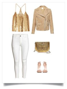 Gold and glow by lucydanvers on Polyvore featuring TIBI, Stuart Weitzman and From St Xavier