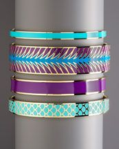 Kate Spade Bangles. I love wearing mine and keep hoping my hints will encourage hubby to purchase a few more at bdays, etc....so far he has yet to figure it out. Lol! ;)