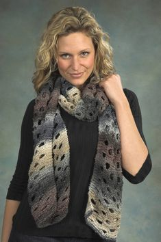 Swiss Cheese Scarf in Plymouth Kudo - F315. Discover more Patterns by Plymouth…
