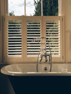 Cafe-Style waterproof ABS shutters, brought from diyshutters.co.uk and installed by moi!