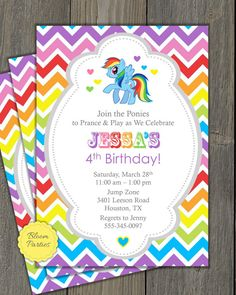 RAINBOW DASH MY LITTLE PONY INSPIRED BIRTHDAY INVITE Printable Invitation This listing is for a invitation file customized with your party